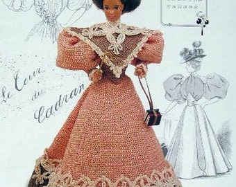 Annie's Attic Heirloom Crochet Doll Dress Pattern 1994 Gibson Girl Collection of the Gay '90's MISS SEPTEMBER