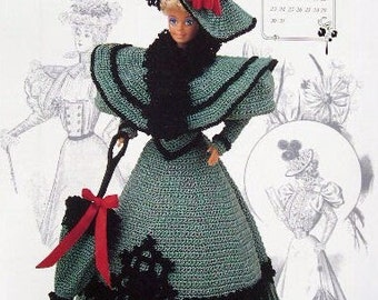 Annie's Attic Heirloom Crochet Doll Dress Pattern 1994 Gibson Girl Collection of the Gay '90's MISS OCTOBER