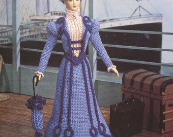 Annie's Attic Heirloom Crochet Doll Dress Pattern 1995 Turn of the Century Bridal Trousseau Collection- MISS JANUARY