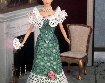 Annie's Attic Heirloom Crochet Doll Dress Pattern 1995 Turn of the Century Trousseau Collection - MISS NOVEMBER