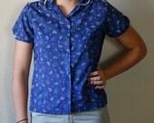 campfire peter pan collar blouse (m - l)