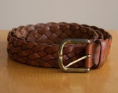 leather woven braided belt