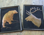 Manly Pressed Copper Art for Your Cabin in the Woods