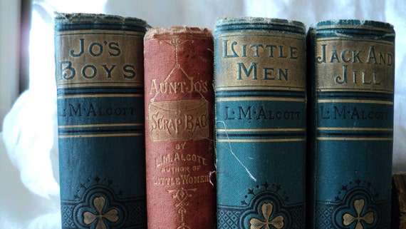 Louisa May Alcott Antique Books 7 Titles 1890s