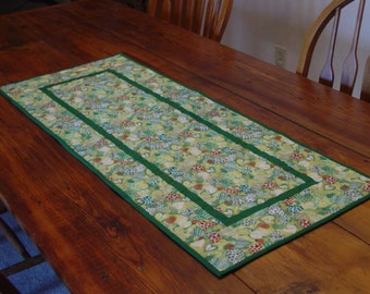 St. Patricks Quilted Table Runner  Made and Ready To Ship
