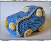 Soft baby toy car rattle organic cotton