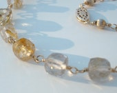 Rutilated Quartz Necklace -- Elegant and Feminine