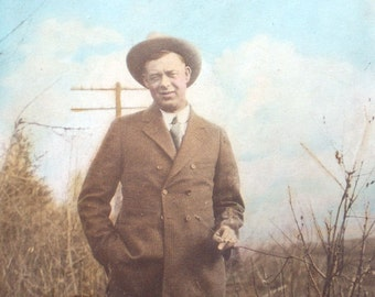 Color Tinted Vintage Photograph Gangster Photo