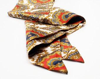 Vintage Scarf Silky Sash Belt Ascot