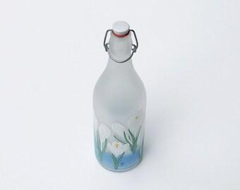 Frosted Glass Bottle Ceramic Stopper Cerve Italy