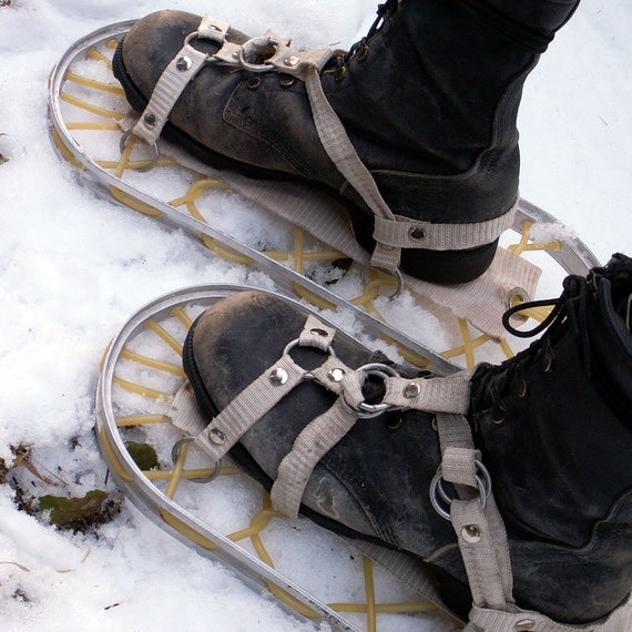 Lightweight Aluminum Snowshoes Army Surplus Military Winter