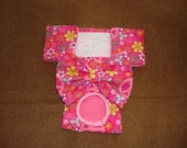 Peace Signs and Flowers - Female Dog Panties / Diaper - Britches - Nappies -  Available in all Sizes