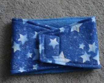 Dog Belly Band - Blue Star with Glitter and Sparkle