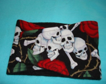 Skulls and Roses Belly Band - Male Dog Diaper