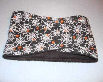 Halloween Dog Belly Band - Male Dog Diaper -Black with White Spider Webs -  XS - Large