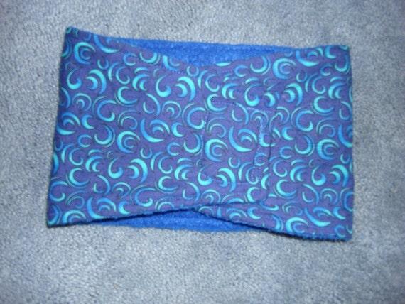 Soft Blue and Aqua Swirl Male Dog Belly Band
