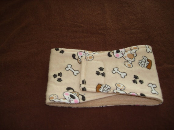 Super Soft Fleece and Flannel Belly Band for Dogs - Sizes XS - L