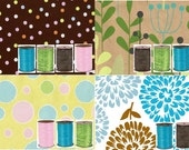 Gift Wrapping with a thechicchickadee purchase - 4 papers to choose from