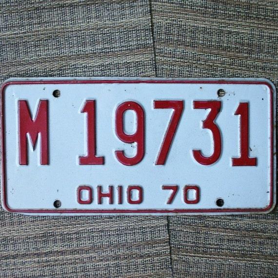 1970 Ohio License Plate