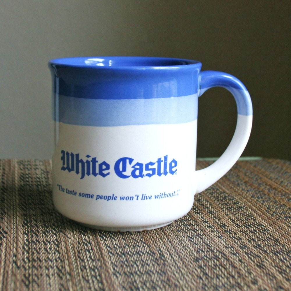Vintage White Castle Restaurant Ceramic Coffee Mug