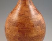 Segmented Texas mesquite wood turned vase