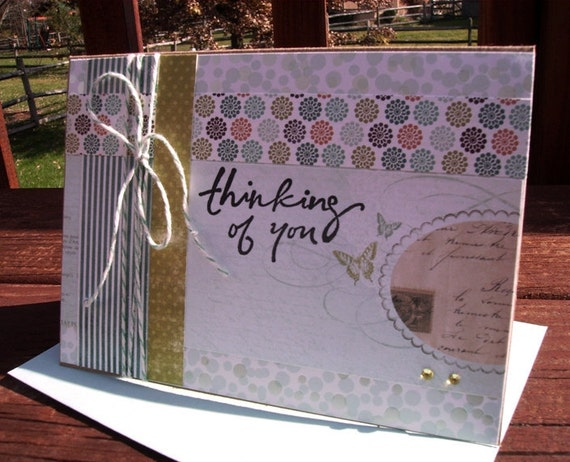 Friendship Card, Thinking of You, Get Well Card, All-Occasion Card - Butterflies