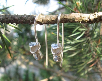 Tiny Pitcher Plant Silver Earrings