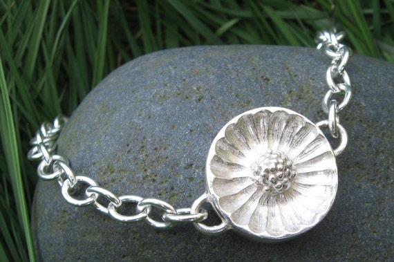 NEW Large Silver Link Bracelet Tennessee Coneflower