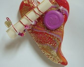 Love Letter polymer clay heart Valentine Gift