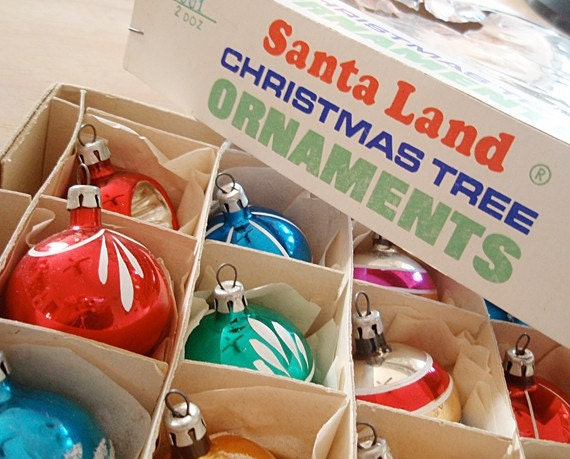 RESERVE for chinasquirrel, Vintage glass Christmas balls