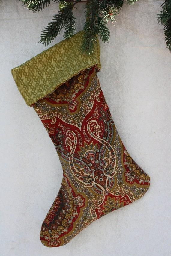 Velvet christmas stocking by luanndanzldesigns on etsy