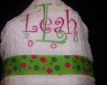 Hooded Towel Embroidered with Child's Name