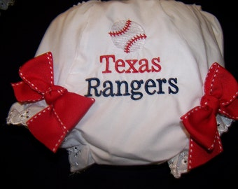 Embroidered Baseball Diaper Cover