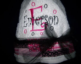 Embroidered Hooded Towel with Child's Name