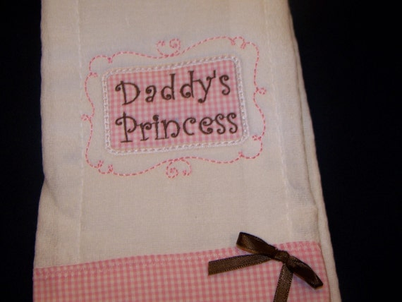 Appliqued and Embroidered Burp Cloth