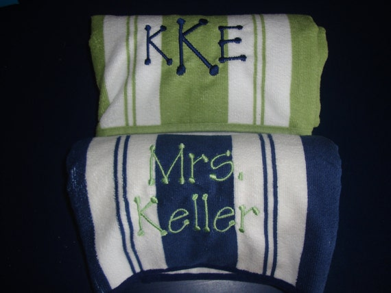 Personalized Beach Towels - Set of 2