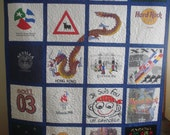 T Shirt Memory Quilt - 20 Squares