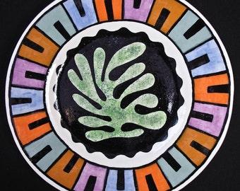 Matisse Inspired Dinner Plate