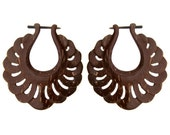 Harmony Hoops - Coconut Post Earrings 1
