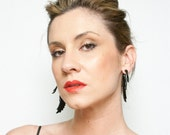 SALE! Fake Gauges, Handmade, Horn Earrings, Cheaters, Organic, Plugs, Split, Tribal Style - Yafah Swans Horn