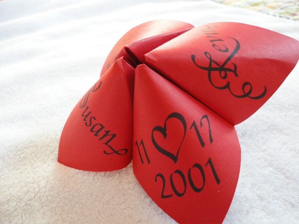 Cootie Catcher Wedding Invitation: Unavailable Listing On Etsy