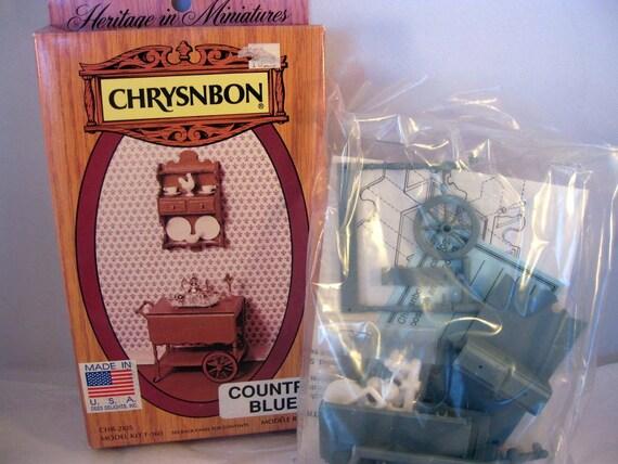 Miniature Furniture Kit Teacart Chrysnbon Scale Dollhouse