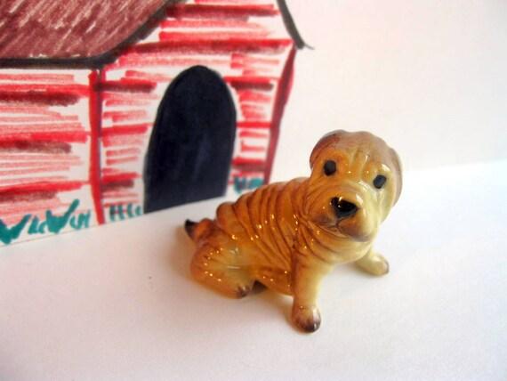 Retired Hagen Renaker Mini Dog Figurine By