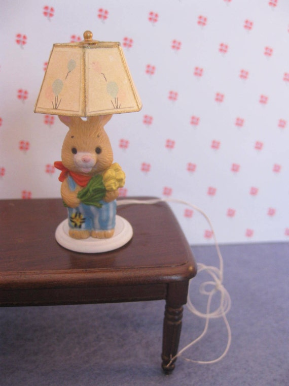Miniature Lamp Electric for Dollhouse by MothersMiniTreasures