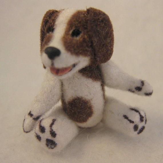 Miniature Dog Stuffed Dollhouse Toy