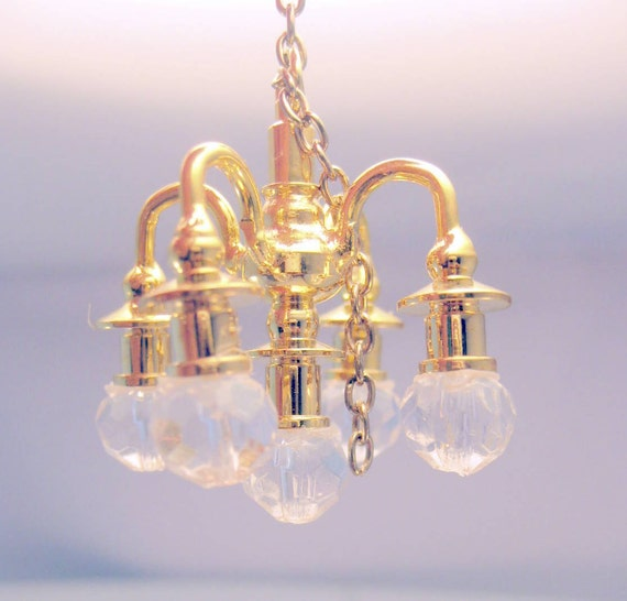 Dollhouse Chandelier Light Non Working By MothersMiniTreasures