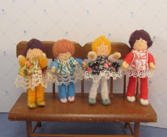 Vintage Halfpenny Pocket Dolls Set 4