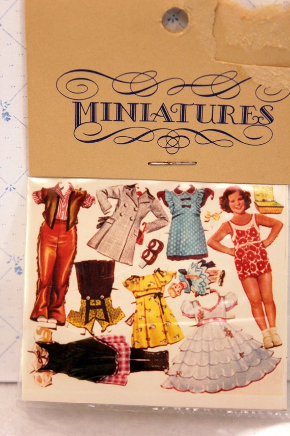 Miniature Shirley Temple Paper Dolls Dollhouse Collage