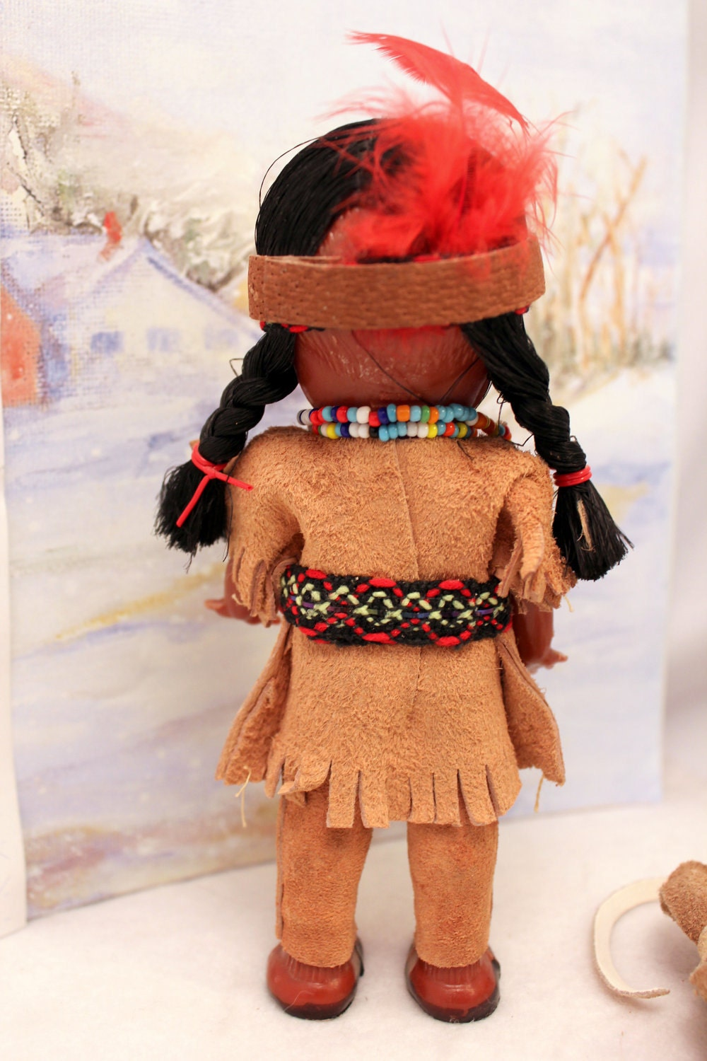 Indian Costume Doll W Baby Native American Yellowstone