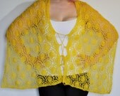 lace shawl knitting pattern, Sunrise